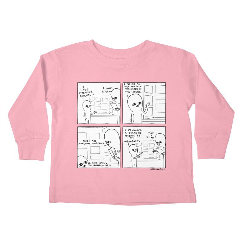 STRANGE PLANET BLACK AND WHITE: I HAVE ATTEMPTED SCIENCE Kids Toddler Longsleeve T-Shirt by Nathan W Pyle