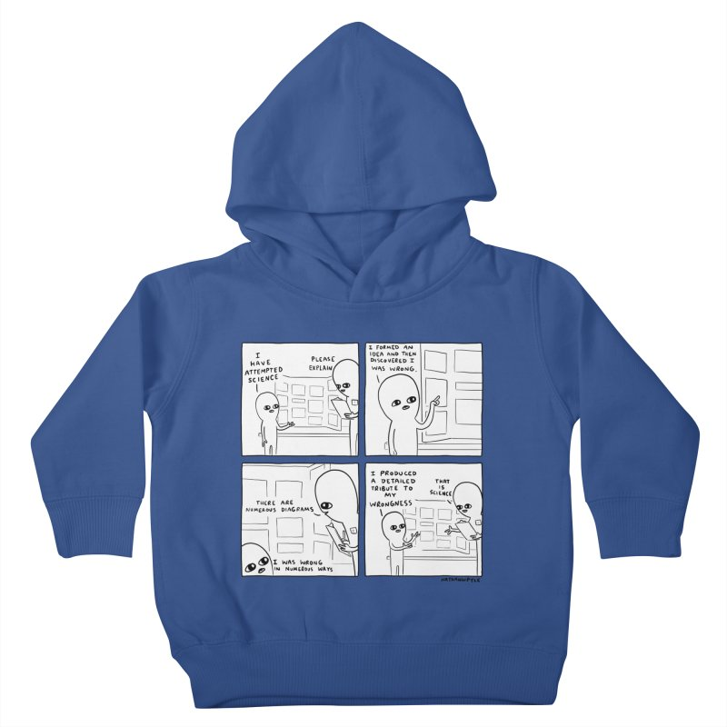 STRANGE PLANET BLACK AND WHITE: I HAVE ATTEMPTED SCIENCE Kids Toddler Pullover Hoody by Nathan W Pyle
