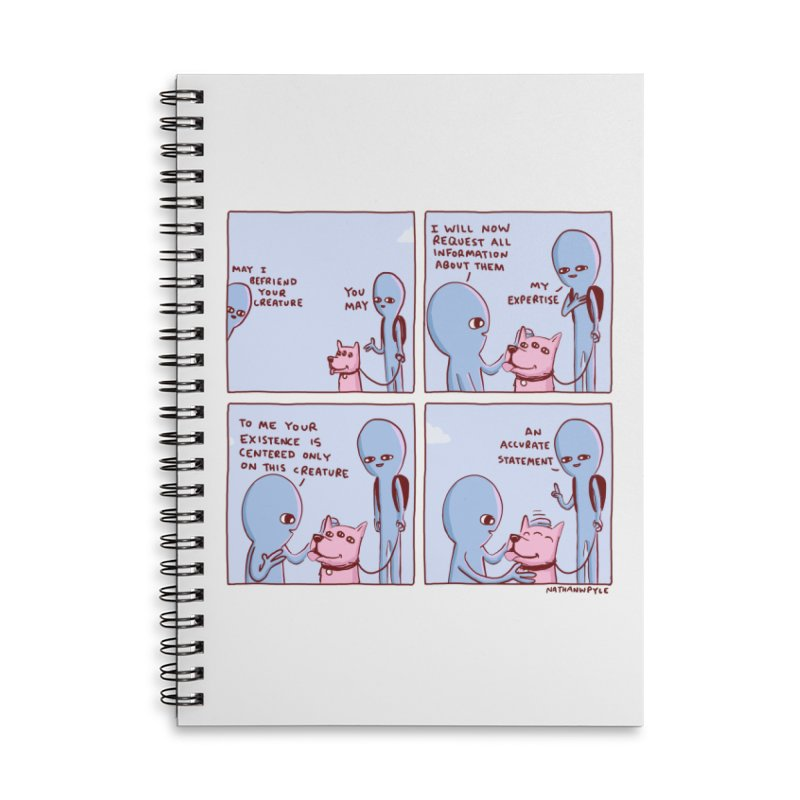 STRANGE PLANET: MAY I BEFRIEND YOUR CREATURE Accessories Lined Spiral Notebook by Nathan W Pyle