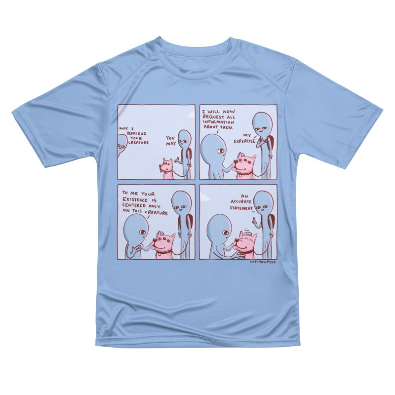 STRANGE PLANET: MAY I BEFRIEND YOUR CREATURE Women's Performance Unisex T-Shirt by Nathan W Pyle