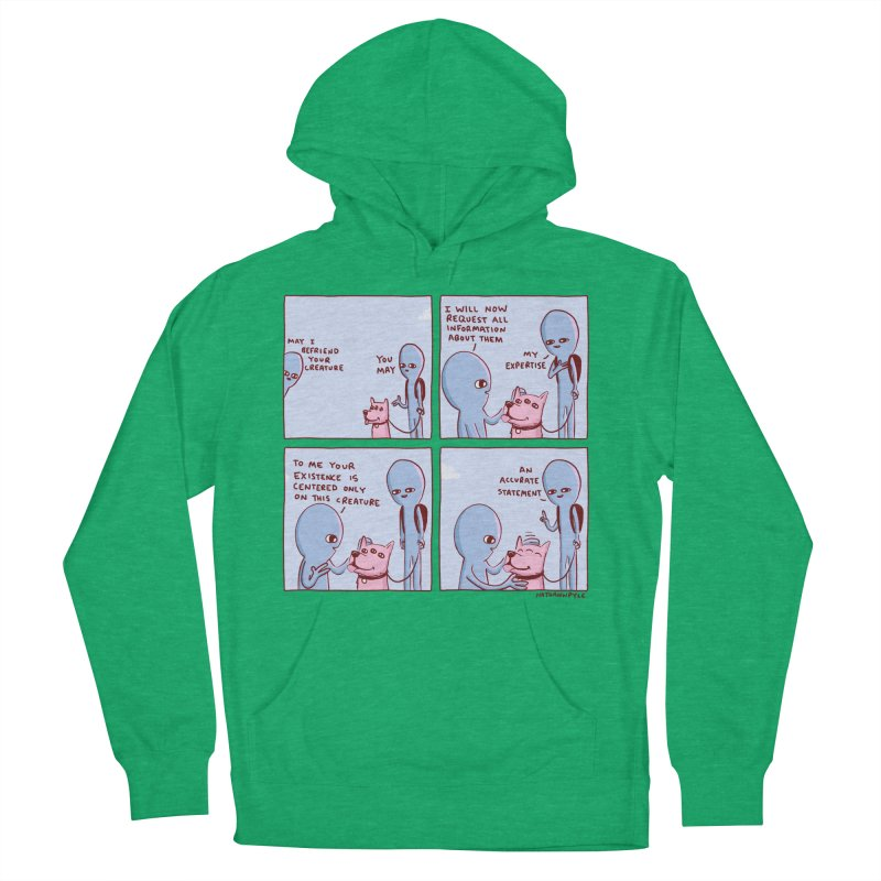 STRANGE PLANET: MAY I BEFRIEND YOUR CREATURE Women's French Terry Pullover Hoody by Nathan W Pyle