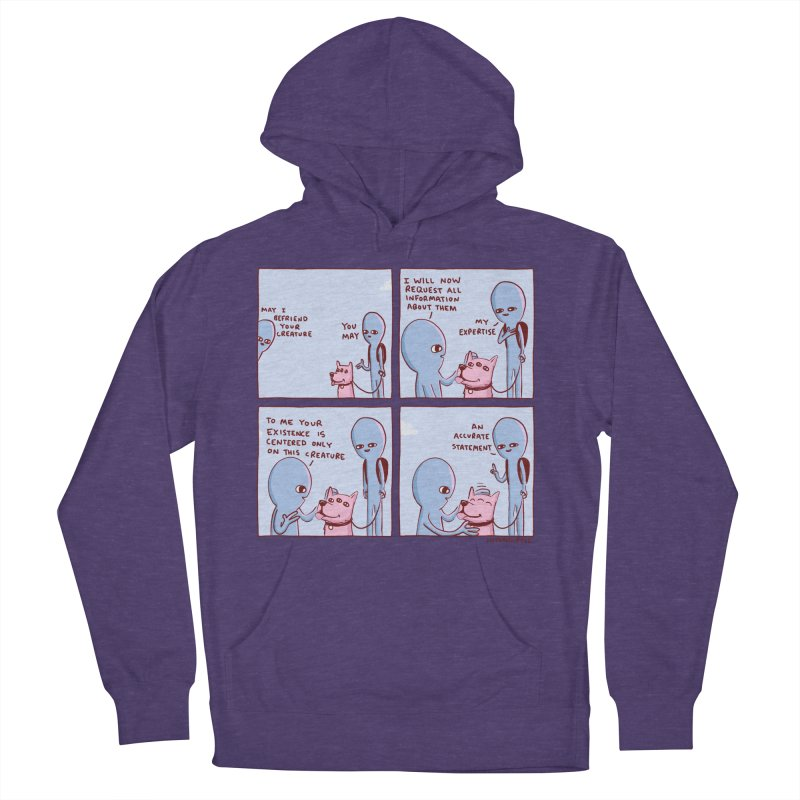 STRANGE PLANET: MAY I BEFRIEND YOUR CREATURE Men's French Terry Pullover Hoody by Nathan W Pyle