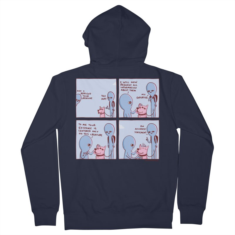 STRANGE PLANET: MAY I BEFRIEND YOUR CREATURE Women's French Terry Zip-Up Hoody by Nathan W Pyle