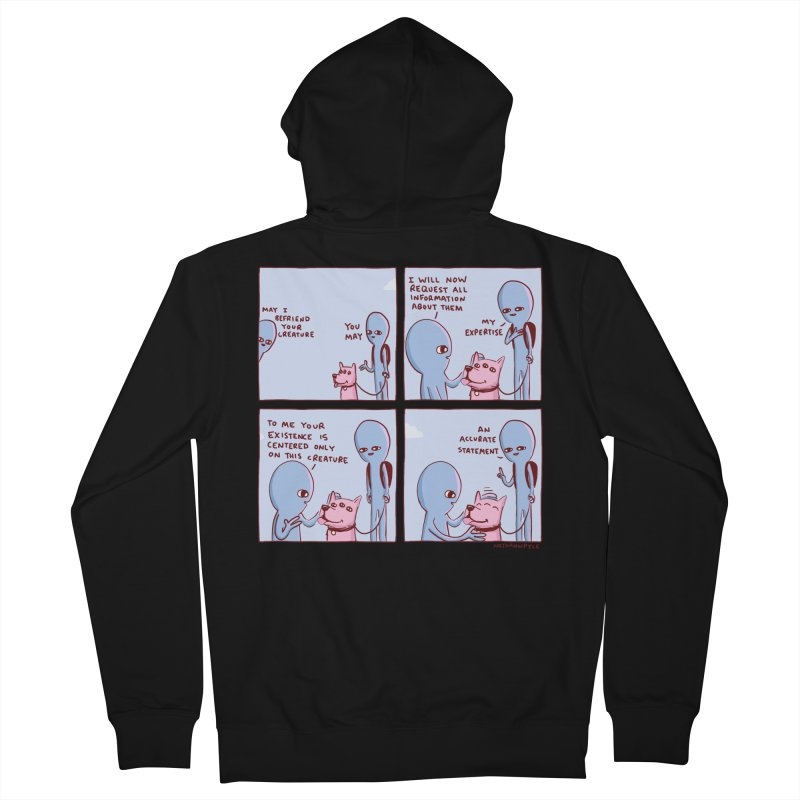 STRANGE PLANET: MAY I BEFRIEND YOUR CREATURE Men's French Terry Zip-Up Hoody by Nathan W Pyle