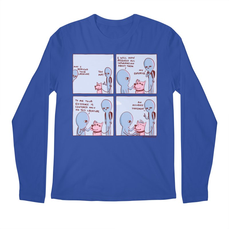 STRANGE PLANET: MAY I BEFRIEND YOUR CREATURE Men's Regular Longsleeve T-Shirt by Nathan W Pyle