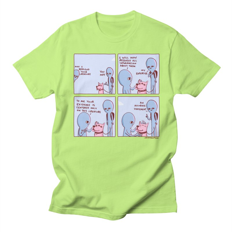 STRANGE PLANET: MAY I BEFRIEND YOUR CREATURE Men's Regular T-Shirt by Nathan W Pyle