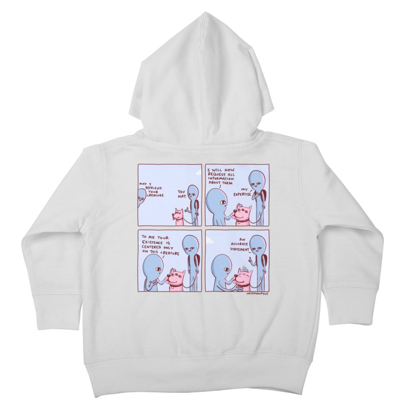 STRANGE PLANET: MAY I BEFRIEND YOUR CREATURE Kids Toddler Zip-Up Hoody by Nathan W Pyle