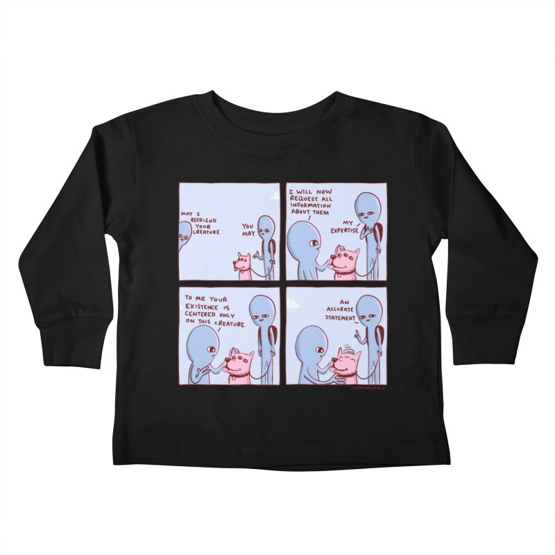 STRANGE PLANET: MAY I BEFRIEND YOUR CREATURE Kids Toddler Longsleeve T-Shirt by Nathan W Pyle