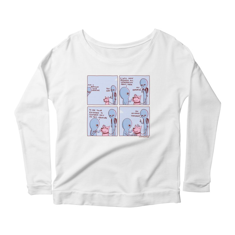 STRANGE PLANET: MAY I BEFRIEND YOUR CREATURE Women's Scoop Neck Longsleeve T-Shirt by Nathan W Pyle