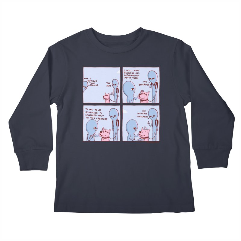 STRANGE PLANET: MAY I BEFRIEND YOUR CREATURE Kids Longsleeve T-Shirt by Nathan W Pyle