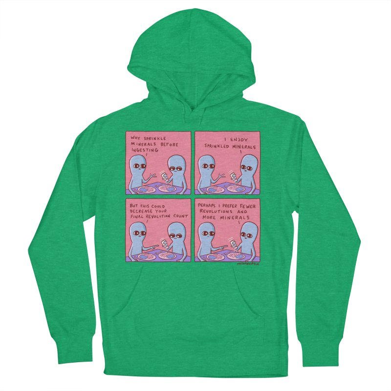 STRANGE PLANET: PERHAPS I PREFER MORE MINERALS Men's French Terry Pullover Hoody by Nathan W Pyle
