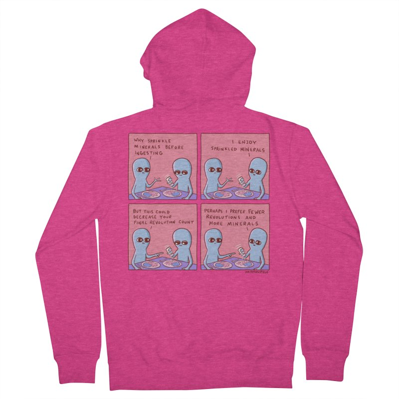 STRANGE PLANET: PERHAPS I PREFER MORE MINERALS Women's French Terry Zip-Up Hoody by Nathan W Pyle