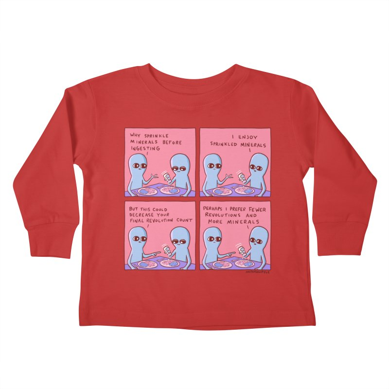 STRANGE PLANET: PERHAPS I PREFER MORE MINERALS Kids Toddler Longsleeve T-Shirt by Nathan W Pyle