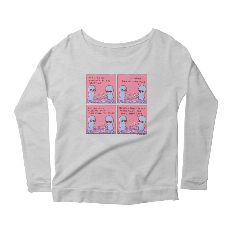 STRANGE PLANET: PERHAPS I PREFER MORE MINERALS Women's Scoop Neck Longsleeve T-Shirt by Nathan W Pyle