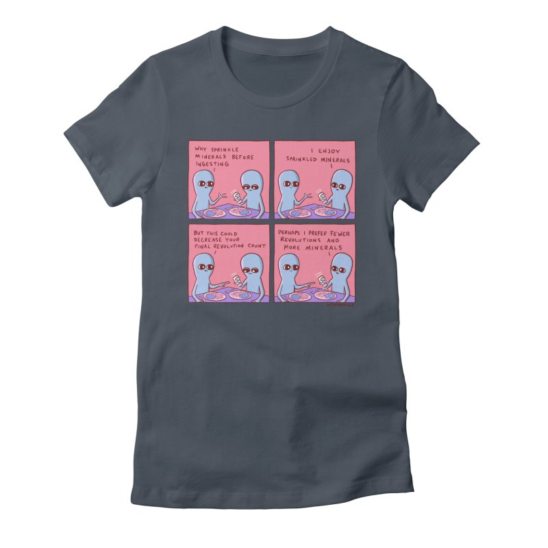 STRANGE PLANET: PERHAPS I PREFER MORE MINERALS Women's Fitted T-Shirt by Nathan W Pyle