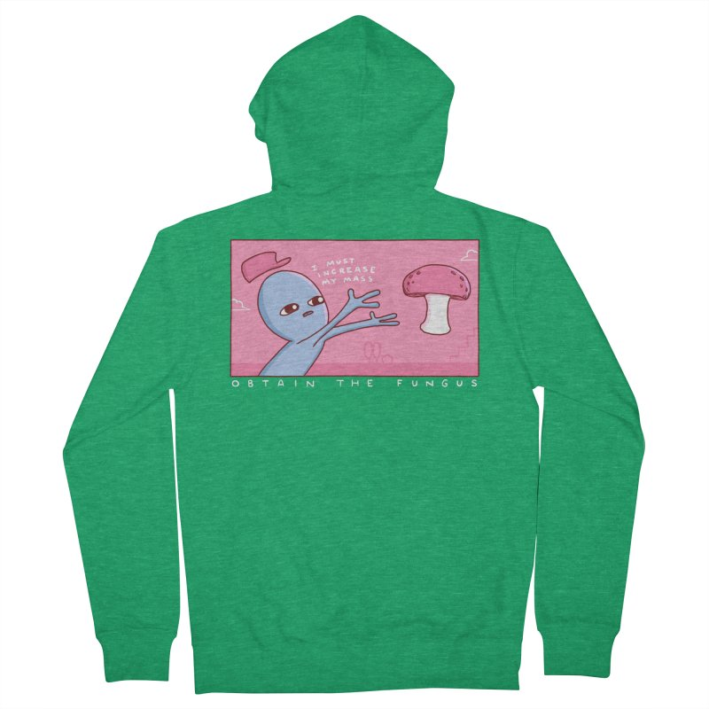 STRANGE PLANET SPECIAL PRODUCT: OBTAIN THE FUNGUS Men's Zip-Up Hoody by Nathan W Pyle