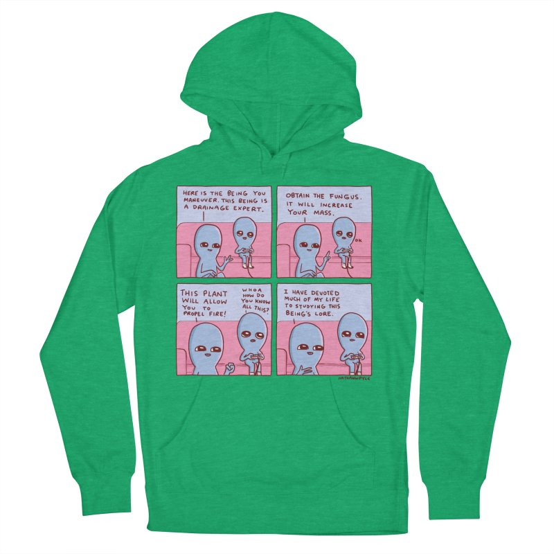 STRANGE PLANET: OBTAIN THE FUNGUS Men's French Terry Pullover Hoody by Nathan W Pyle