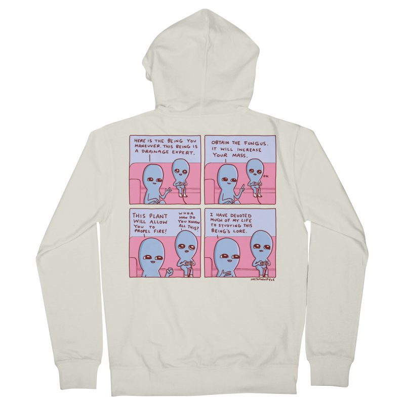 STRANGE PLANET: OBTAIN THE FUNGUS Women's French Terry Zip-Up Hoody by Nathan W Pyle