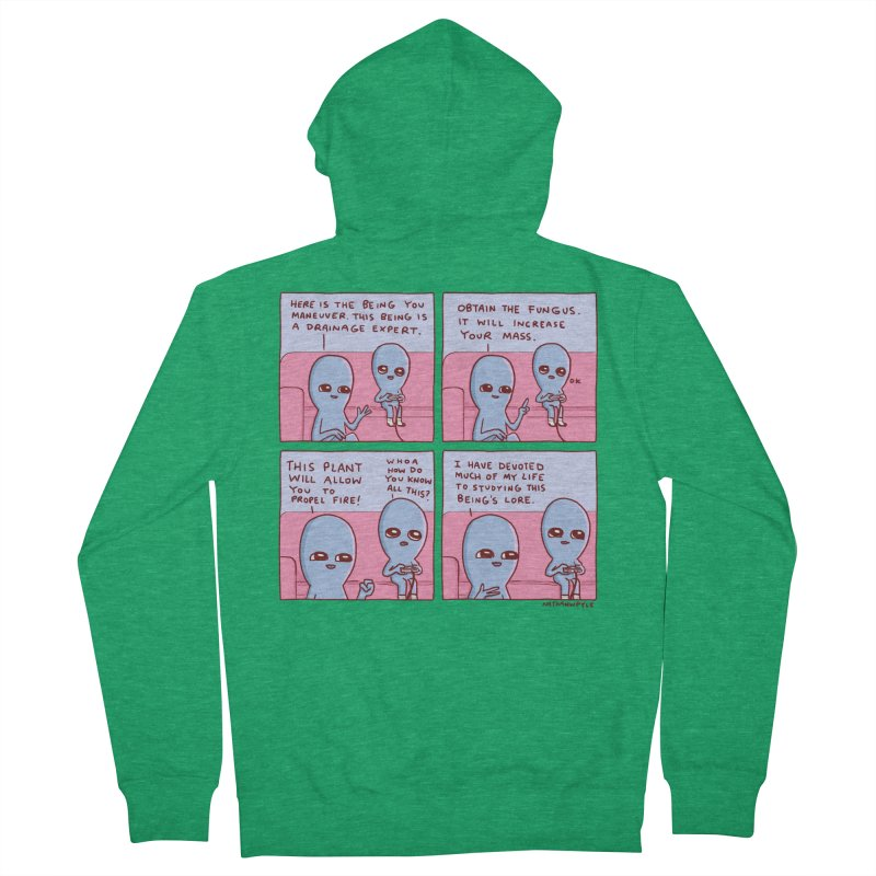 STRANGE PLANET: OBTAIN THE FUNGUS Men's Zip-Up Hoody by Nathan W Pyle