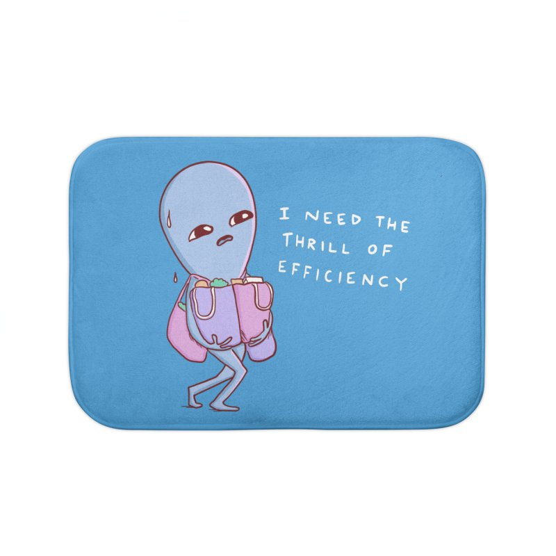 STRANGE PLANET SPECIAL PRODUCT: THRILL OF EFFICIENCY Home Bath Mat by Nathan W Pyle