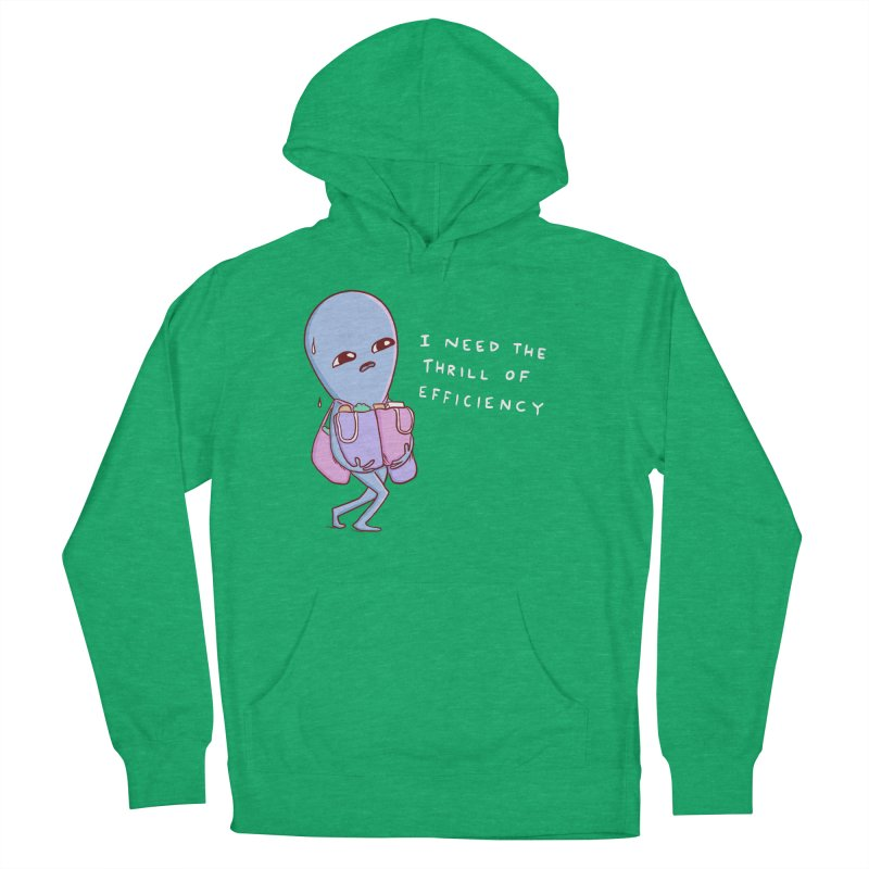 STRANGE PLANET SPECIAL PRODUCT: THRILL OF EFFICIENCY Men's French Terry Pullover Hoody by Nathan W Pyle