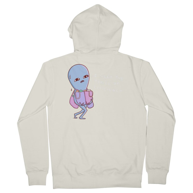 STRANGE PLANET SPECIAL PRODUCT: THRILL OF EFFICIENCY Women's French Terry Zip-Up Hoody by Nathan W Pyle