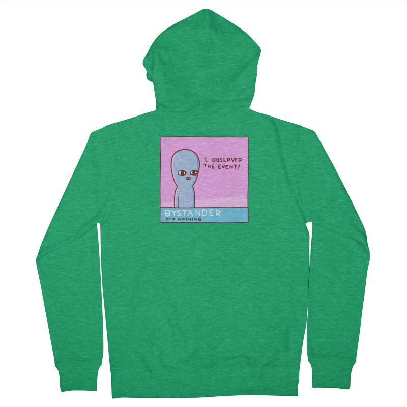 STRANGE PLANET SPECIAL PRODUCT: BYSTANDER Women's French Terry Zip-Up Hoody by Nathan W Pyle