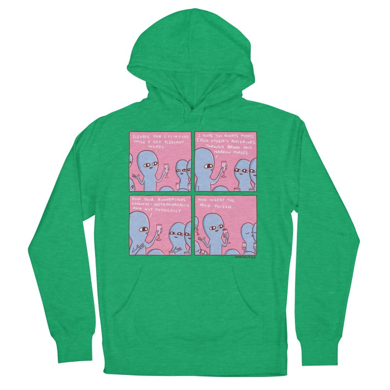 STRANGE PLANET: ELEVATE YOUR CYLINDERS Women's French Terry Pullover Hoody by Nathan W Pyle