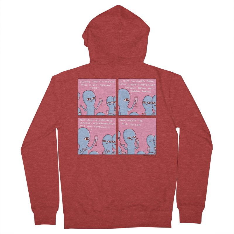 STRANGE PLANET: ELEVATE YOUR CYLINDERS Women's French Terry Zip-Up Hoody by Nathan W Pyle
