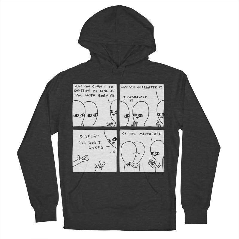 STRANGE PLANET BLACK AND WHITE: COMMIT TO COHESION Men's French Terry Pullover Hoody by Nathan W Pyle