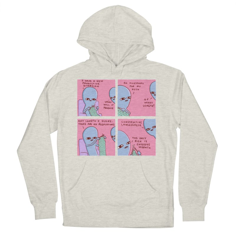 STRANGE PLANET: CONSTRUCTIVE LAWLESSNESS / AN ACCESSORY FOR MY NECK Women's French Terry Pullover Hoody by Nathan W Pyle