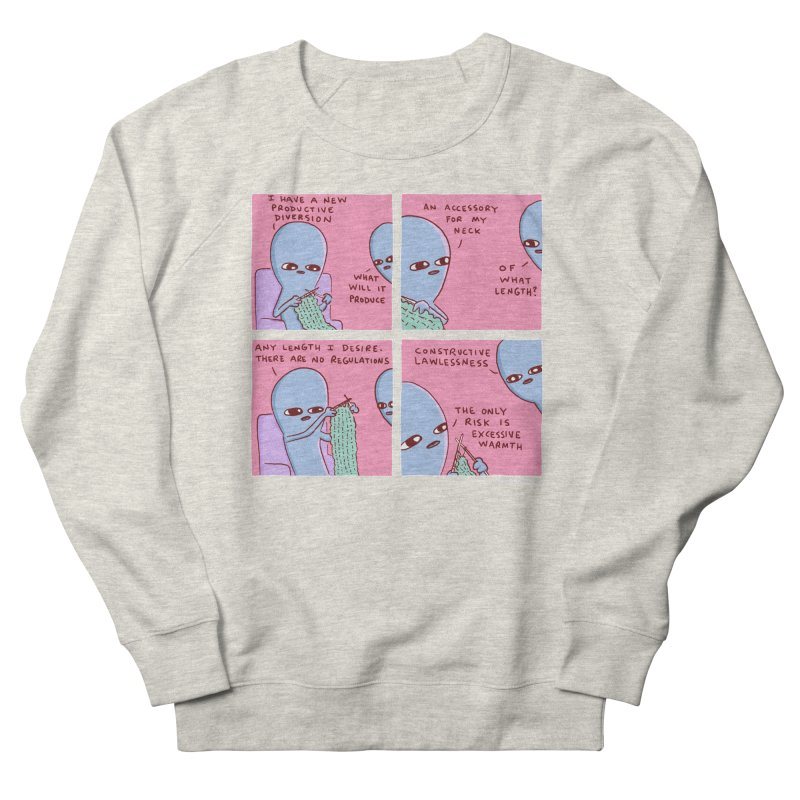 STRANGE PLANET: CONSTRUCTIVE LAWLESSNESS / AN ACCESSORY FOR MY NECK Women's French Terry Sweatshirt by Nathan W Pyle