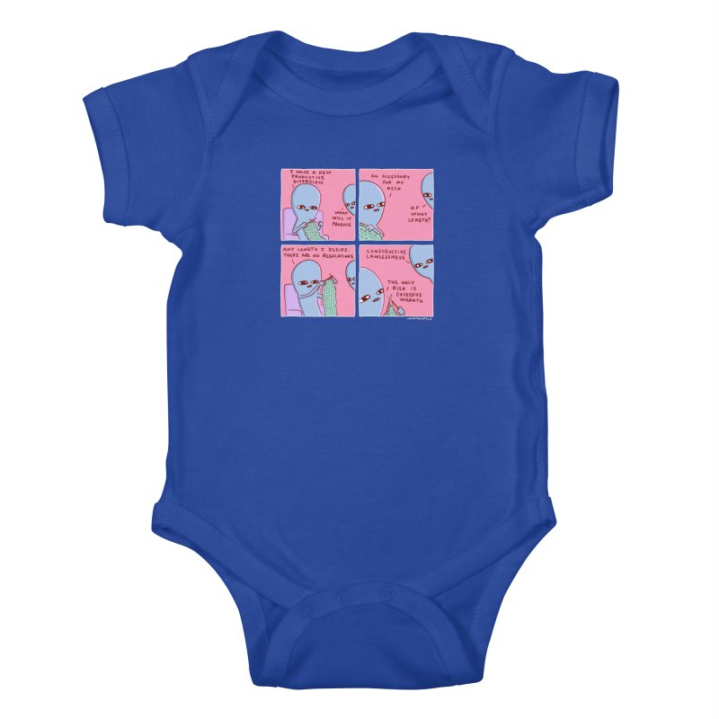 STRANGE PLANET: CONSTRUCTIVE LAWLESSNESS / AN ACCESSORY FOR MY NECK Kids Baby Bodysuit by Nathan W Pyle