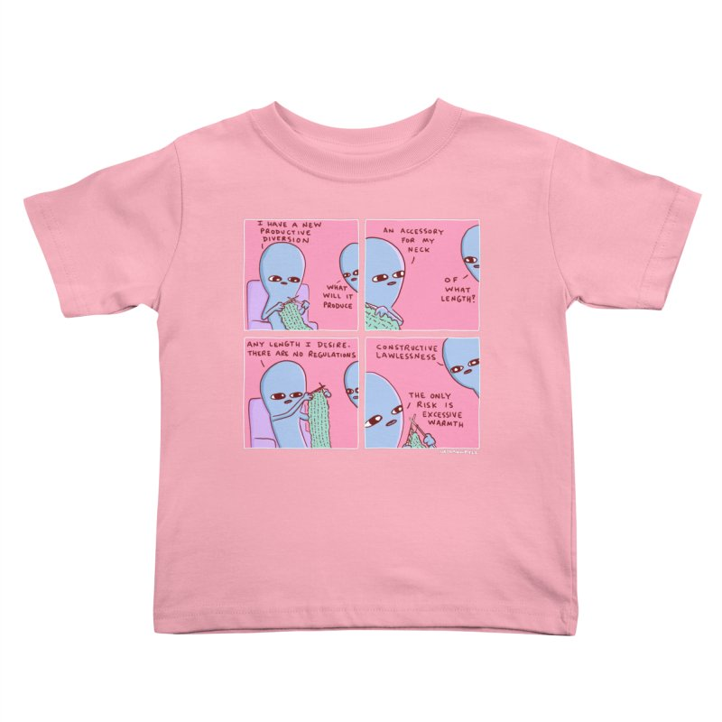 STRANGE PLANET: CONSTRUCTIVE LAWLESSNESS / AN ACCESSORY FOR MY NECK Kids Toddler T-Shirt by Nathan W Pyle