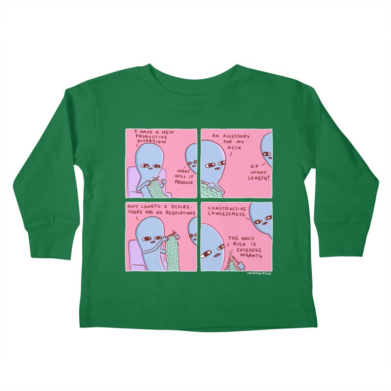 STRANGE PLANET: CONSTRUCTIVE LAWLESSNESS / AN ACCESSORY FOR MY NECK Kids Toddler Longsleeve T-Shirt by Nathan W Pyle