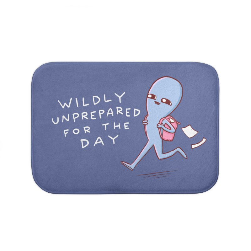 STRANGE PLANET SPECIAL PRODUCT: WILDLY UNPREPARED Home Bath Mat by Nathan W Pyle