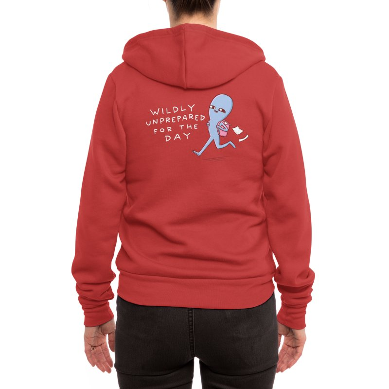STRANGE PLANET SPECIAL PRODUCT: WILDLY UNPREPARED Women's Zip-Up Hoody by Nathan W Pyle