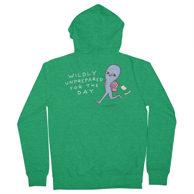 STRANGE PLANET SPECIAL PRODUCT: WILDLY UNPREPARED Men's Zip-Up Hoody by Nathan W Pyle