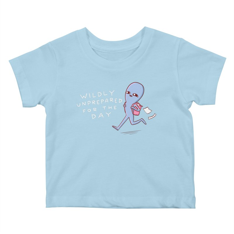 STRANGE PLANET SPECIAL PRODUCT: WILDLY UNPREPARED Kids Baby T-Shirt by Nathan W Pyle