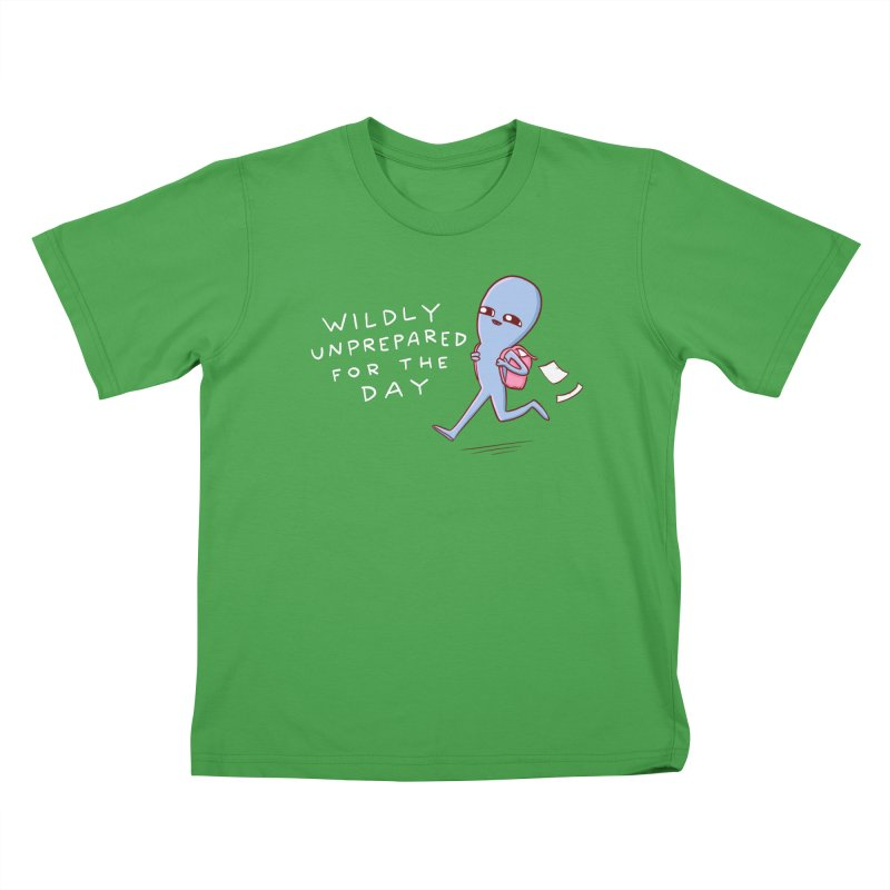 STRANGE PLANET SPECIAL PRODUCT: WILDLY UNPREPARED Kids T-Shirt by Nathan W Pyle