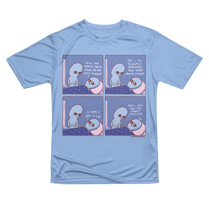 STRANGE PLANET: MAGICAL MOUTH STONE BEING / YOU'LL GET WHAT THE MARKET DEMANDS Men's T-Shirt by Nathan W Pyle