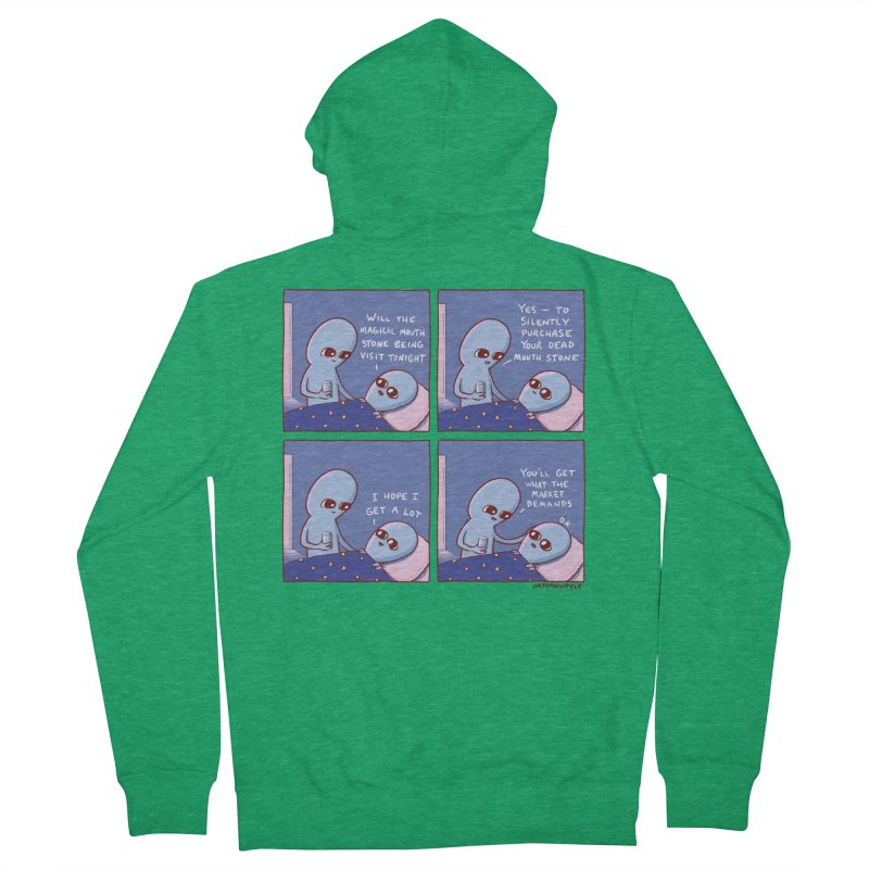 STRANGE PLANET: MAGICAL MOUTH STONE BEING / YOU'LL GET WHAT THE MARKET DEMANDS Men's Zip-Up Hoody by Nathan W Pyle