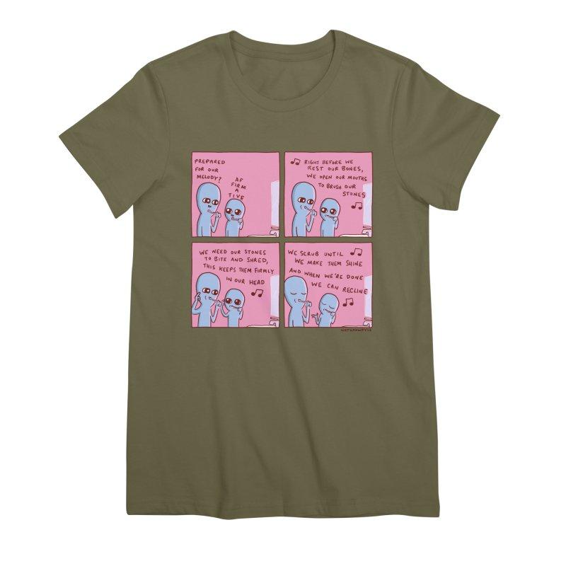 STRANGE PLANET: MOUTH STONE MELODY Women's Premium T-Shirt by Nathan W Pyle