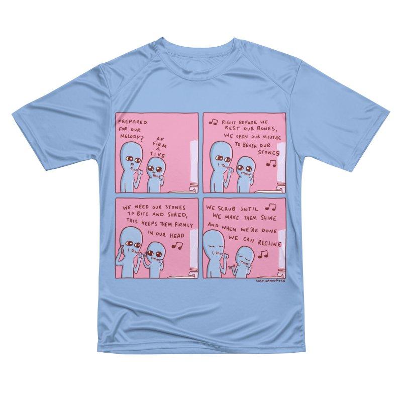 STRANGE PLANET: MOUTH STONE MELODY Men's T-Shirt by Nathan W Pyle