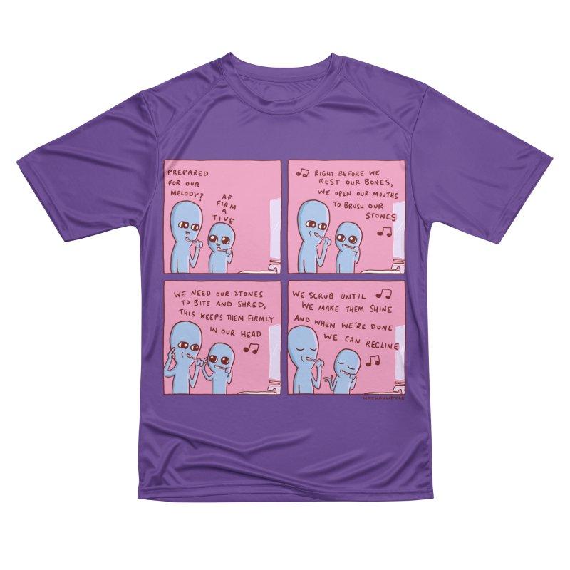 STRANGE PLANET: MOUTH STONE MELODY Men's Performance T-Shirt by Nathan W Pyle
