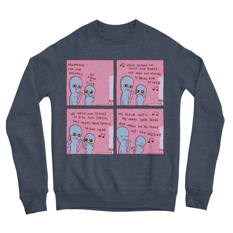 STRANGE PLANET: MOUTH STONE MELODY Men's Sponge Fleece Sweatshirt by Nathan W Pyle