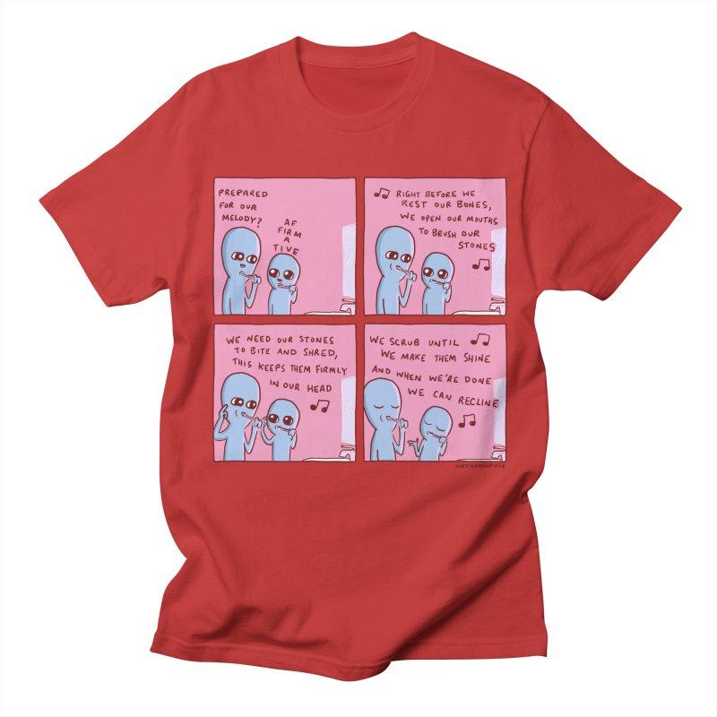 STRANGE PLANET: MOUTH STONE MELODY Men's Regular T-Shirt by Nathan W Pyle