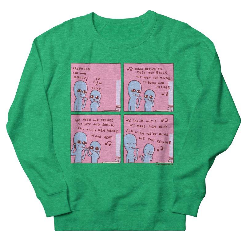 STRANGE PLANET: MOUTH STONE MELODY Women's Sweatshirt by Nathan W Pyle