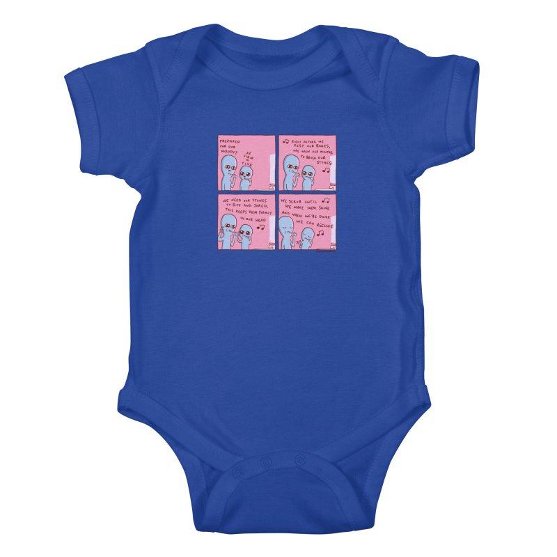 STRANGE PLANET: MOUTH STONE MELODY Kids Baby Bodysuit by Nathan W Pyle