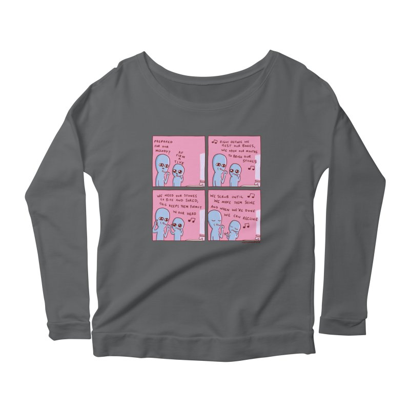 STRANGE PLANET: MOUTH STONE MELODY Women's Scoop Neck Longsleeve T-Shirt by Nathan W Pyle